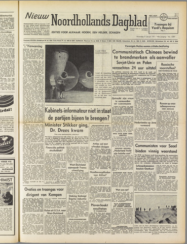 Nieuw Noordhollandsch Dagblad : voor Alkmaar en omgeving 1951-01-31