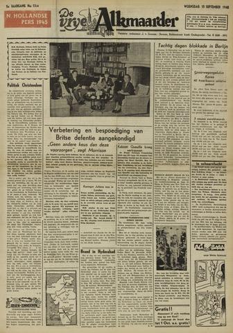 De Vrije Alkmaarder 1948-09-15