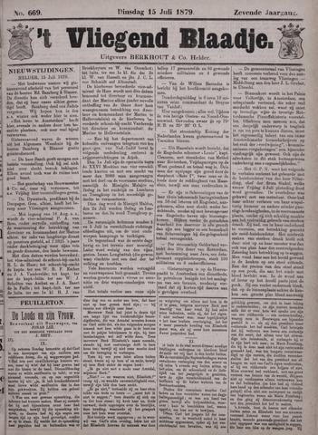 Vliegend blaadje : nieuws- en advertentiebode voor Den Helder 1879-07-15