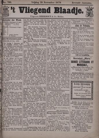 Vliegend blaadje : nieuws- en advertentiebode voor Den Helder 1879-11-28