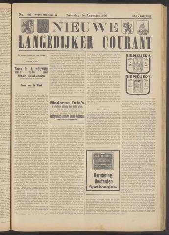 Nieuwe Langedijker Courant 1926-08-14