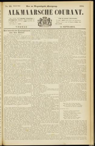 Alkmaarsche Courant 1894-09-14