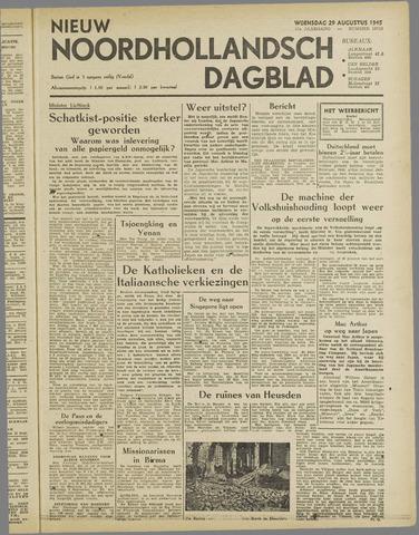 Nieuw Noordhollandsch Dagblad : voor Alkmaar en omgeving 1945-08-29