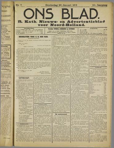 Ons Blad : katholiek nieuwsblad voor N-H 1916-01-20