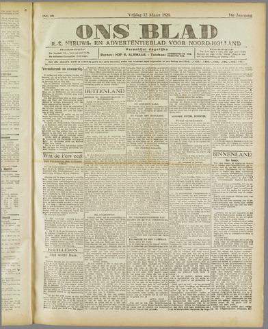 Ons Blad : katholiek nieuwsblad voor N-H 1920-03-12