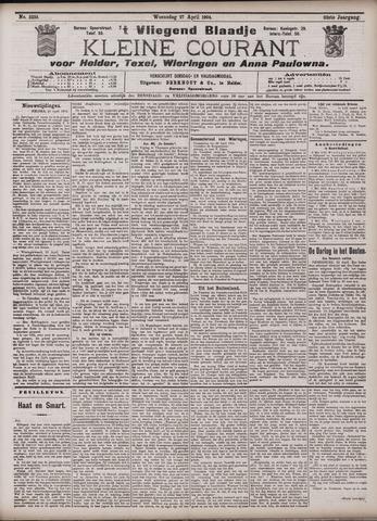 Vliegend blaadje : nieuws- en advertentiebode voor Den Helder 1904-04-27