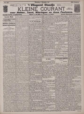 Vliegend blaadje : nieuws- en advertentiebode voor Den Helder 1912-11-06