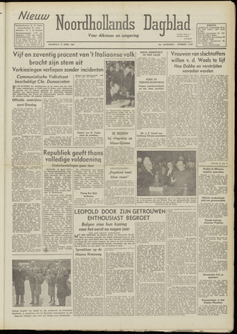 Nieuw Noordhollandsch Dagblad : voor Alkmaar en omgeving 1948-04-19