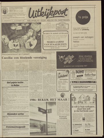 Uitkijkpost : nieuwsblad voor Heiloo e.o. 1986-12-24