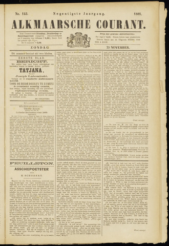 Alkmaarsche Courant 1888-11-25