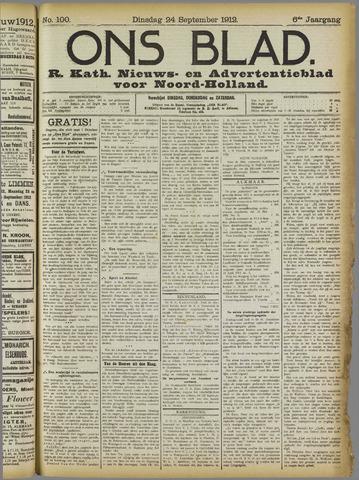 Ons Blad : katholiek nieuwsblad voor N-H 1912-09-24