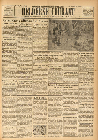 Heldersche Courant 1950-08-07