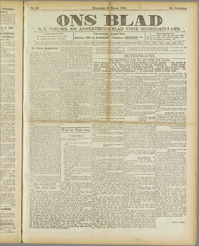 Ons Blad : katholiek nieuwsblad voor N-H 1920-03-15