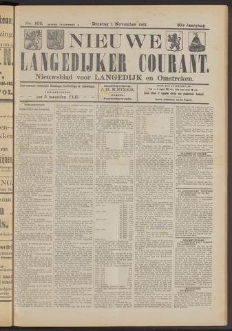 Nieuwe Langedijker Courant 1921-11-01