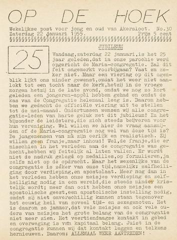Op De Hoek, weekblad voor Akersloot 1955-01-22
