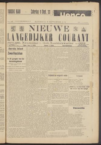 Nieuwe Langedijker Courant 1933-09-09