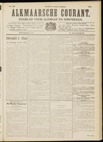 Alkmaarsche Courant 1908-11-12
