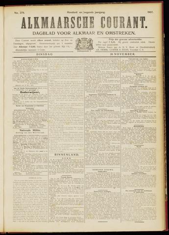 Alkmaarsche Courant 1907-11-26