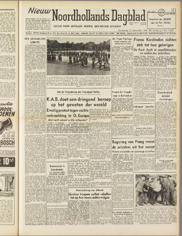 Nieuw Noordhollandsch Dagblad : voor Alkmaar en omgeving 1949-09-15