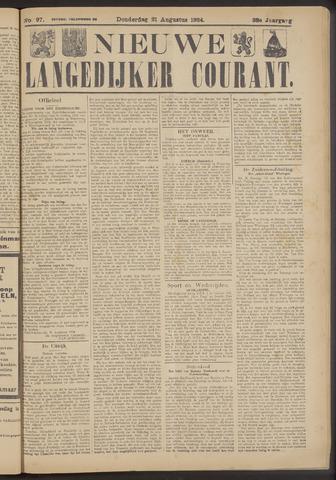Nieuwe Langedijker Courant 1924-08-21
