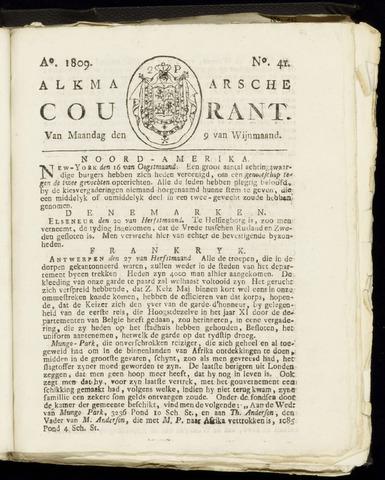 Alkmaarsche Courant 1809-10-09