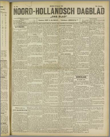 Ons Blad : katholiek nieuwsblad voor N-H 1922-02-14