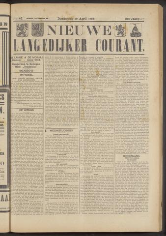 Nieuwe Langedijker Courant 1923-04-19