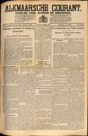 Alkmaarsche Courant 1939-08-14