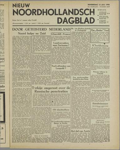 Nieuw Noordhollandsch Dagblad : voor Alkmaar en omgeving 1945-07-12