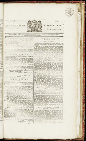Alkmaarsche Courant 1826-02-20