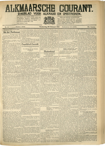 Alkmaarsche Courant 1933-02-23