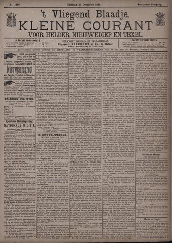Vliegend blaadje : nieuws- en advertentiebode voor Den Helder 1886-12-25