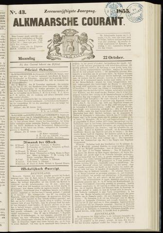 Alkmaarsche Courant 1855-10-22
