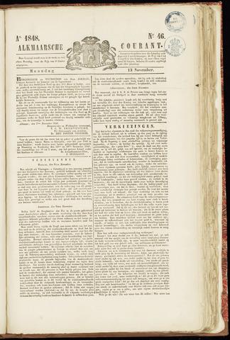 Alkmaarsche Courant 1848-11-13