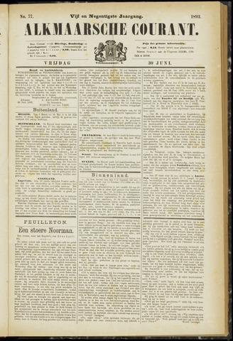 Alkmaarsche Courant 1893-06-30