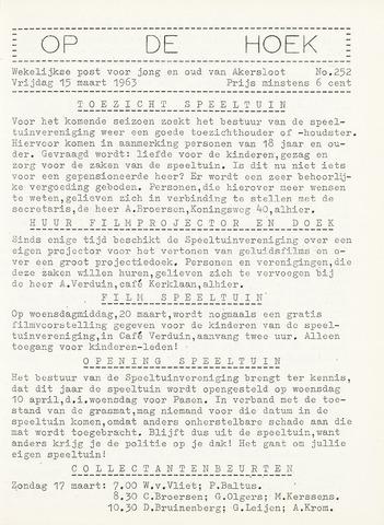 Op De Hoek, weekblad voor Akersloot 1963-03-15