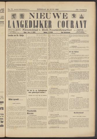 Nieuwe Langedijker Courant 1933-06-20