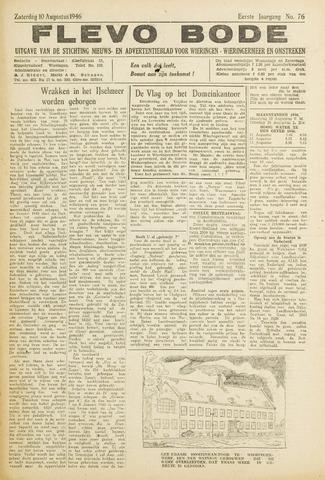 Flevo-bode: nieuwsblad voor Wieringen-Wieringermeer 1946-08-10