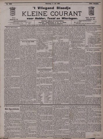 Vliegend blaadje : nieuws- en advertentiebode voor Den Helder 1900-07-11