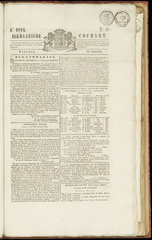 Alkmaarsche Courant 1844-01-22