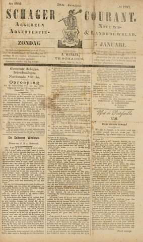 Schager Courant 1886
