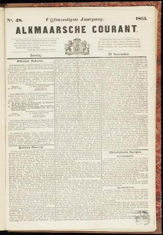 Alkmaarsche Courant 1863-11-29