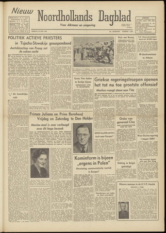 Nieuw Noordhollandsch Dagblad : voor Alkmaar en omgeving 1948-06-22