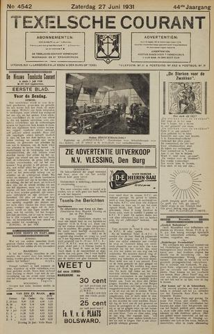 Texelsche Courant 1931-06-27