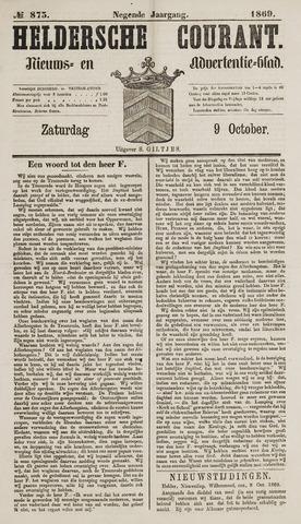 Heldersche Courant 1869-10-09