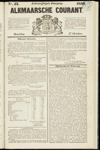 Alkmaarsche Courant 1856-10-27