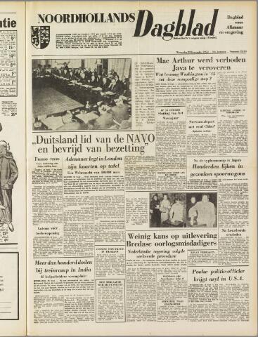 Noordhollands Dagblad : dagblad voor Alkmaar en omgeving 1954-09-29