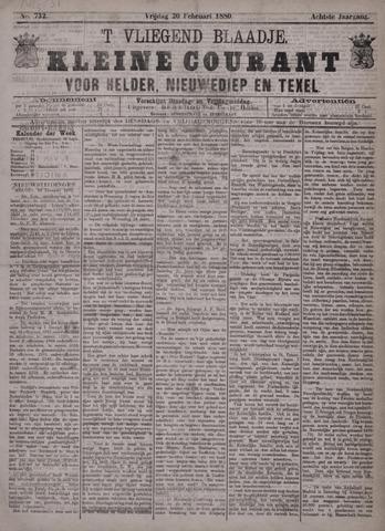 Vliegend blaadje : nieuws- en advertentiebode voor Den Helder 1880-02-20