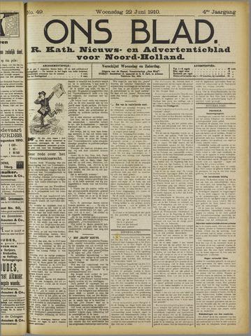 Ons Blad : katholiek nieuwsblad voor N-H 1910-06-22