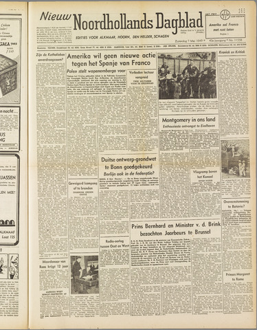 Nieuw Noordhollandsch Dagblad : voor Alkmaar en omgeving 1949-05-07